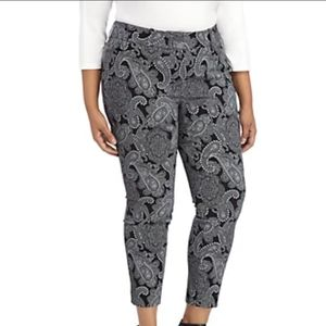 TheLimited Signature Ankle Pants Paisley Print